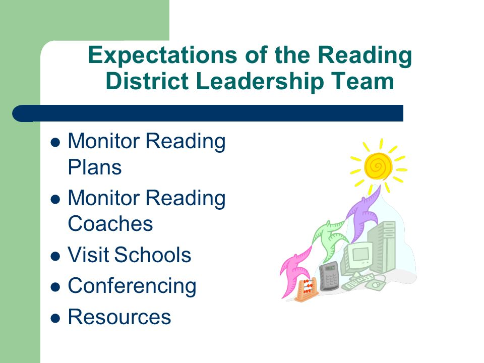 Expectations of the Reading District Leadership Team