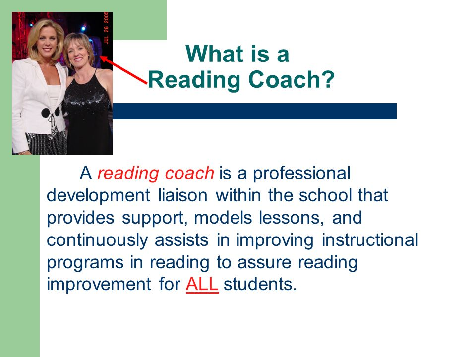 What is a Reading Coach