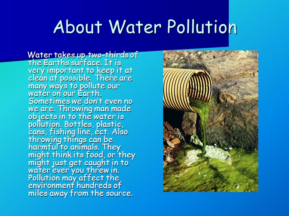 About Water Pollution