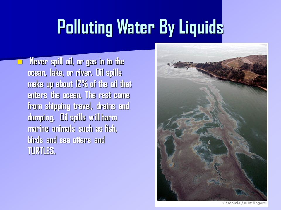 Polluting Water By Liquids