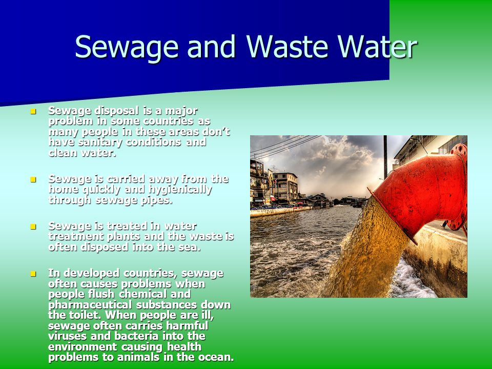 Sewage and Waste Water