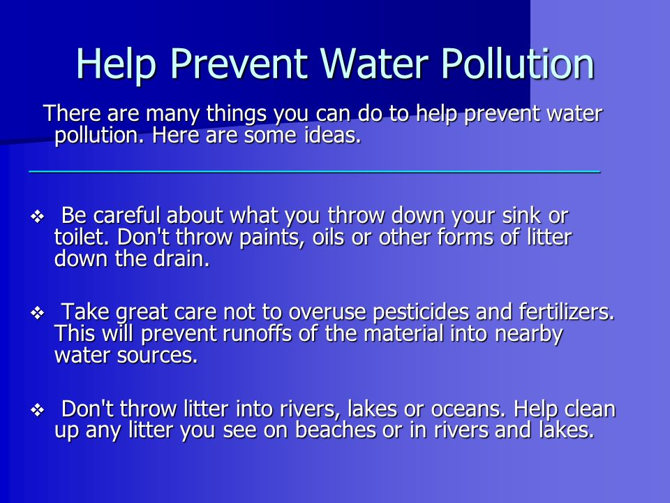 Help Prevent Water Pollution