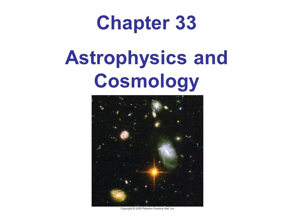 Astrophysics and Cosmology