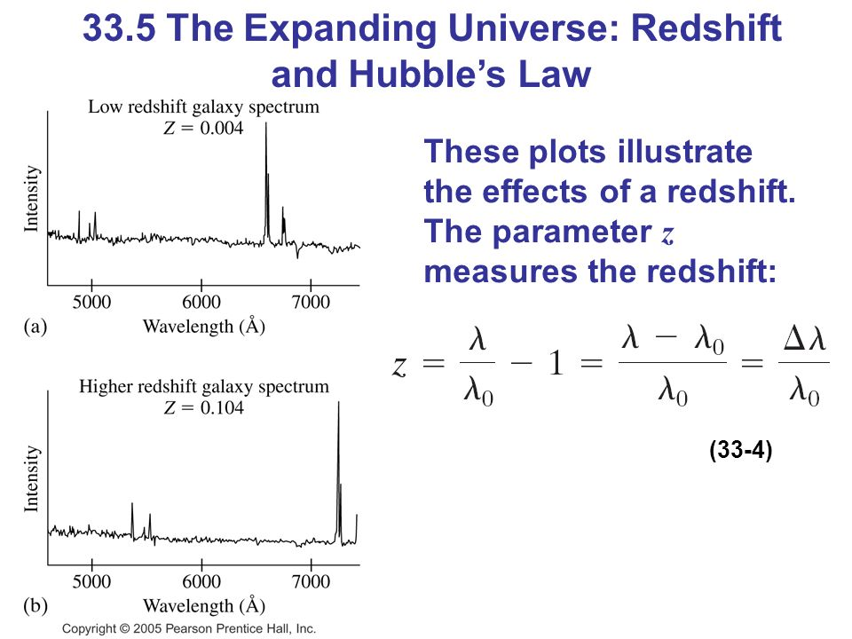 33.5 The Expanding Universe: Redshift and Hubble's Law