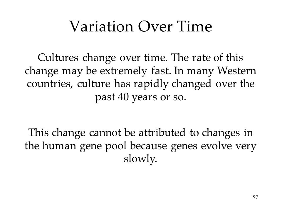 Variation Over Time