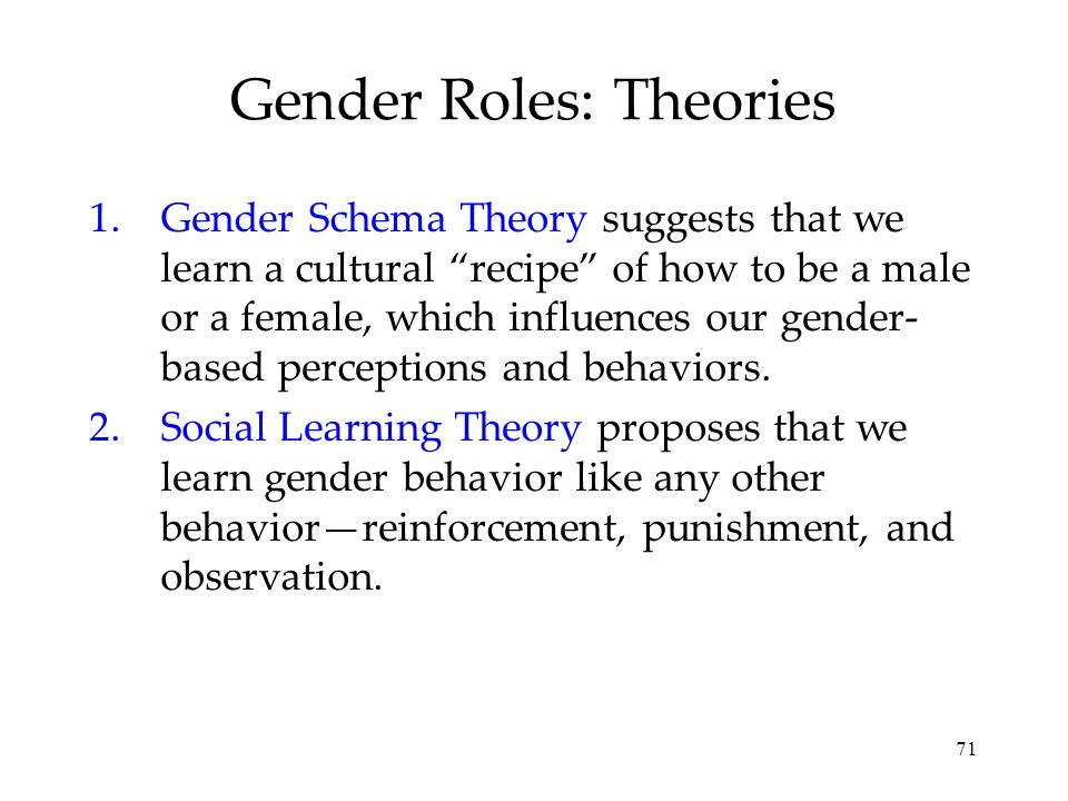 Gender Roles: Theories
