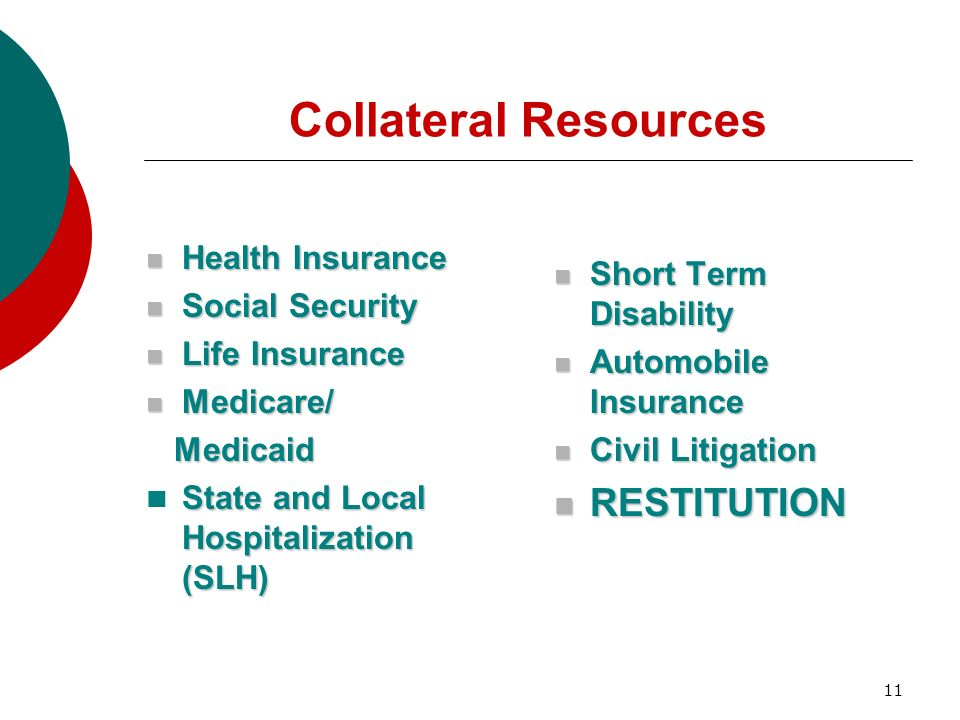 Collateral Resources RESTITUTION Health Insurance
