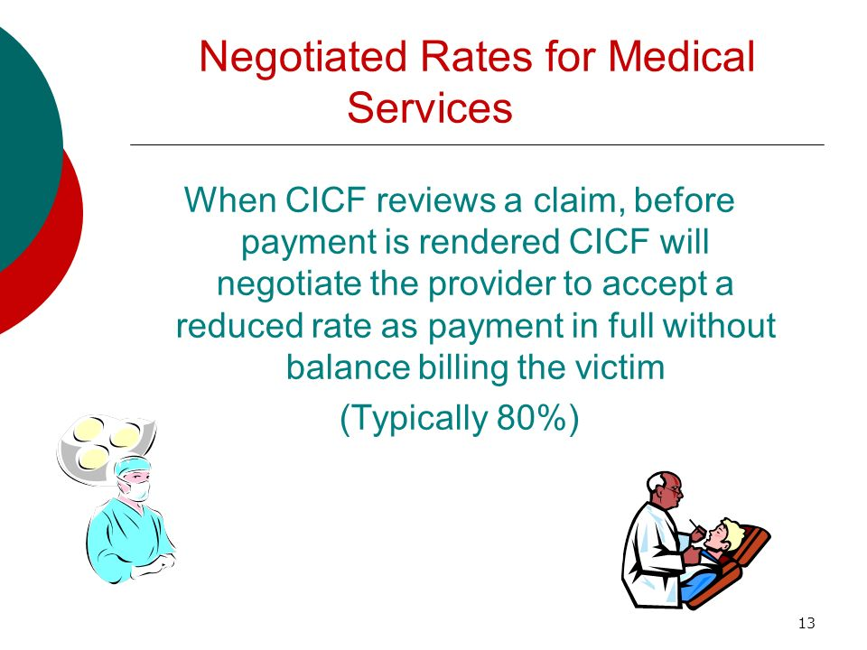 Negotiated Rates for Medical Services