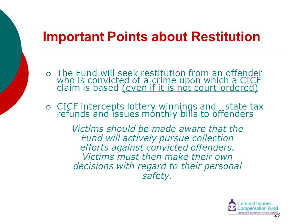 Important Points about Restitution