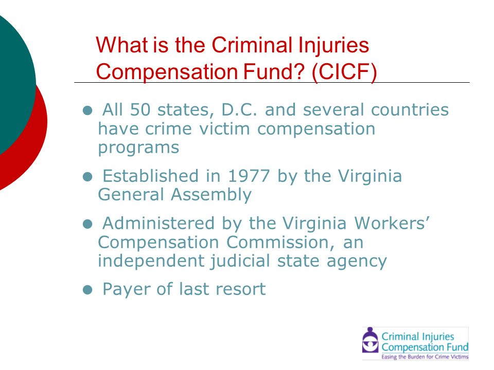 What is the Criminal Injuries Compensation Fund (CICF)