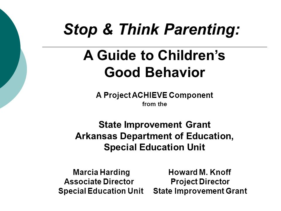 A Guide to Children's Good Behavior