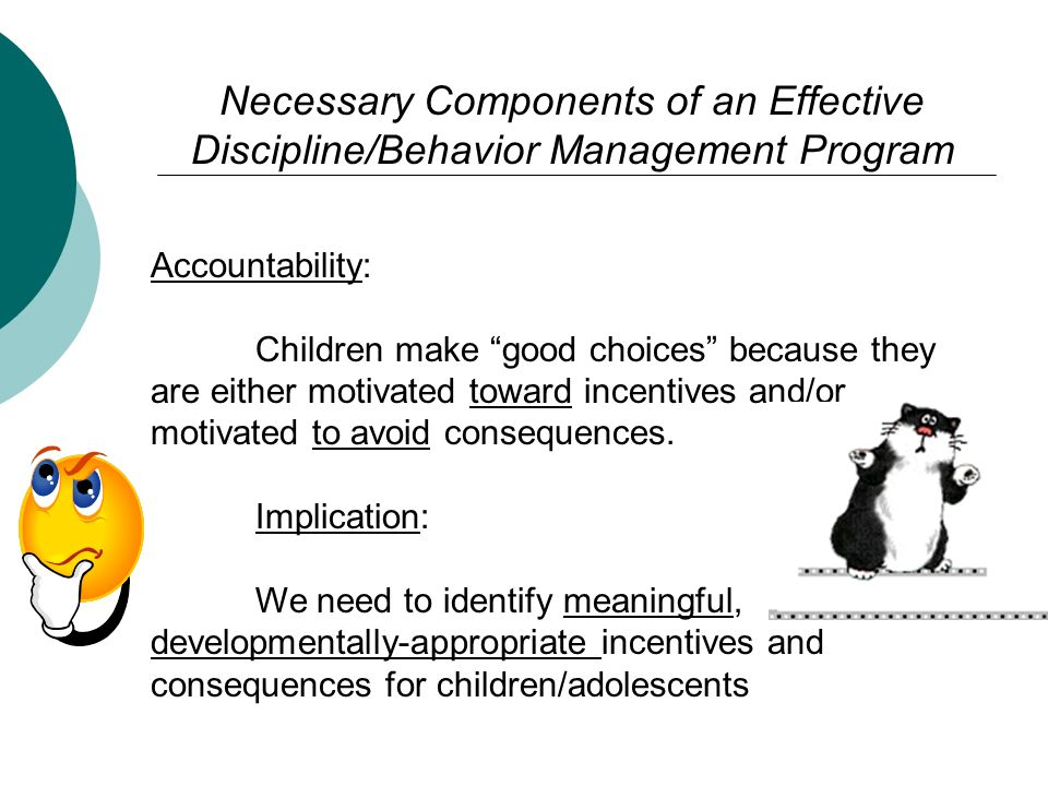 Necessary Components of an Effective