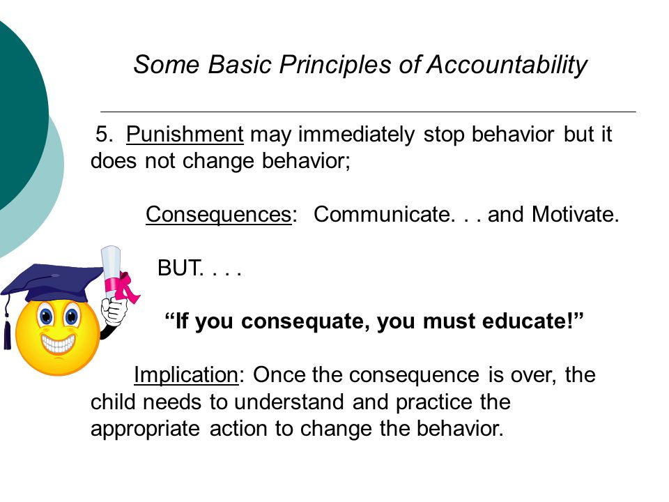 Some Basic Principles of Accountability