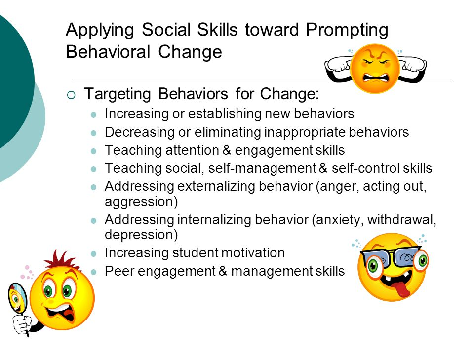 Applying Social Skills toward Prompting Behavioral Change