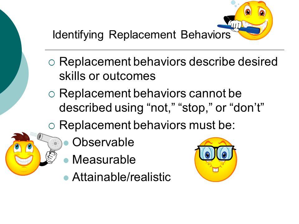 Identifying Replacement Behaviors
