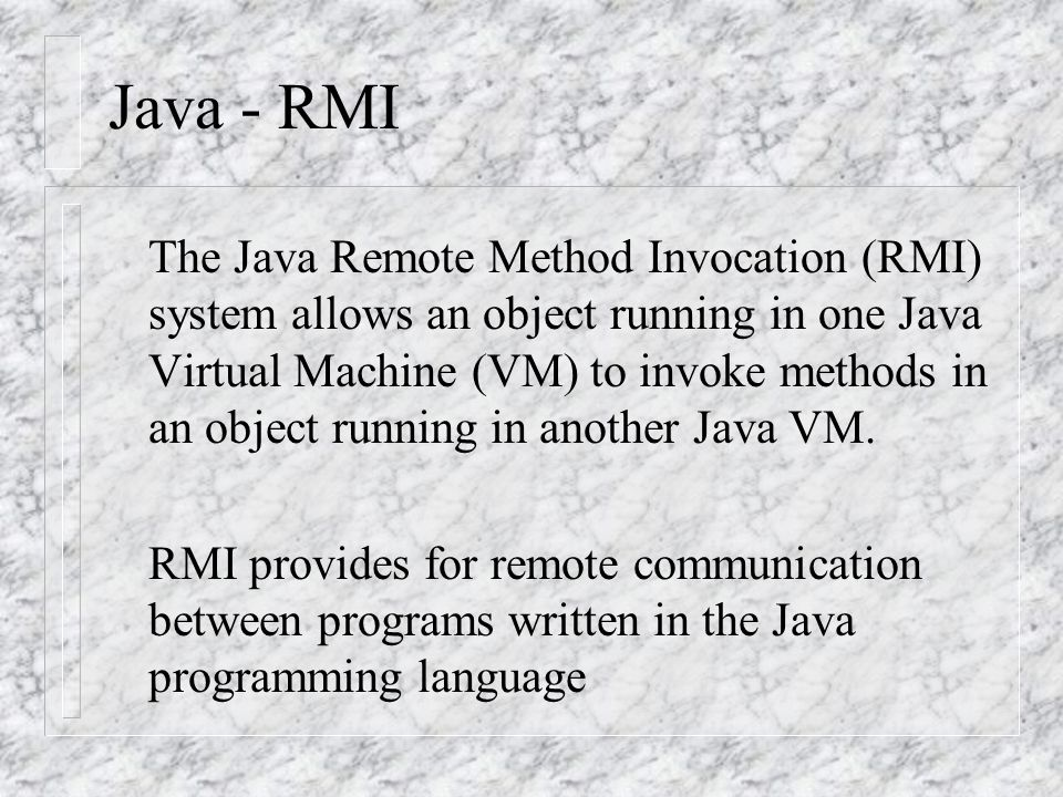 Java - RMI
