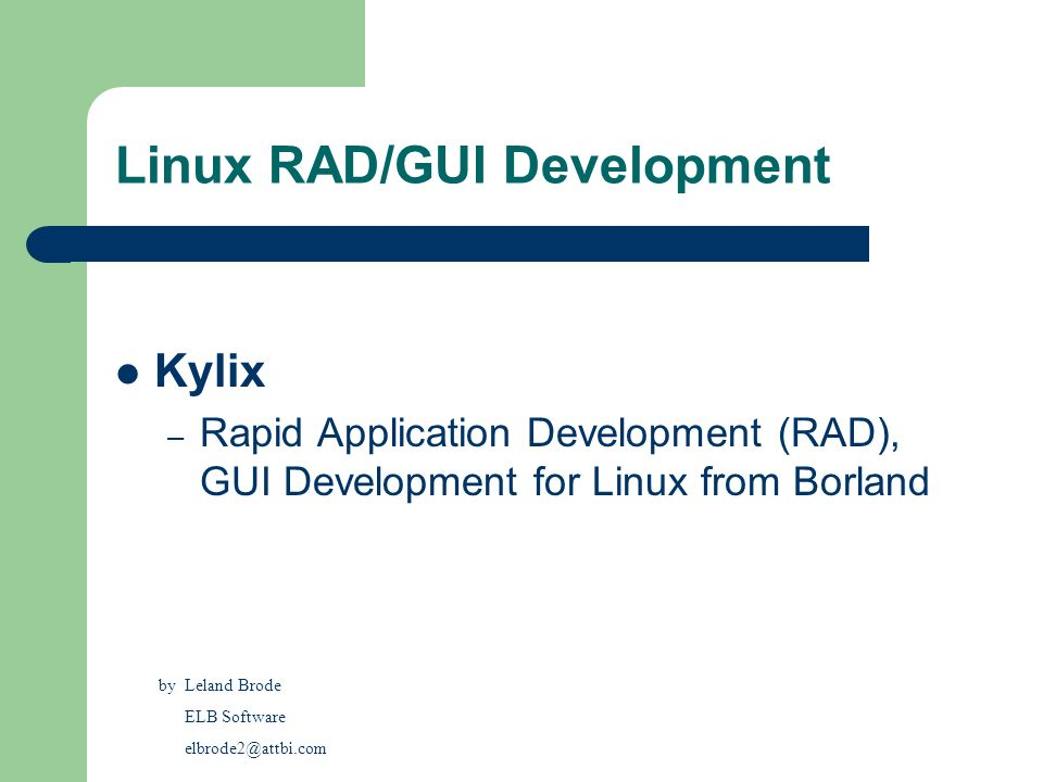 Linux RAD/GUI Development