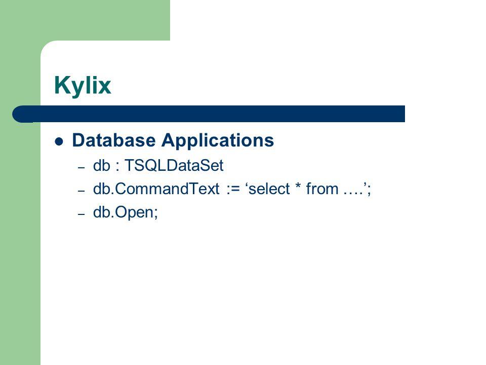 Kylix Database Applications db : TSQLDataSet