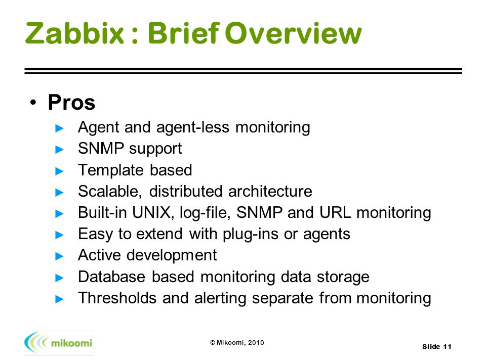 Zabbix : Brief Overview
