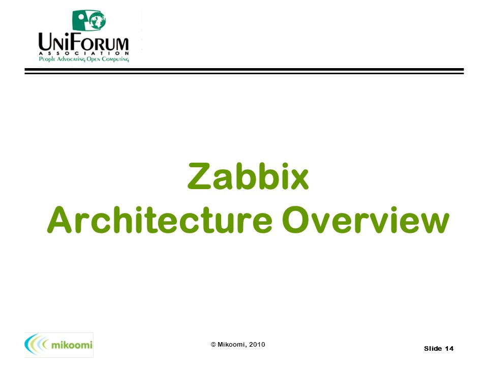 Zabbix Architecture Overview