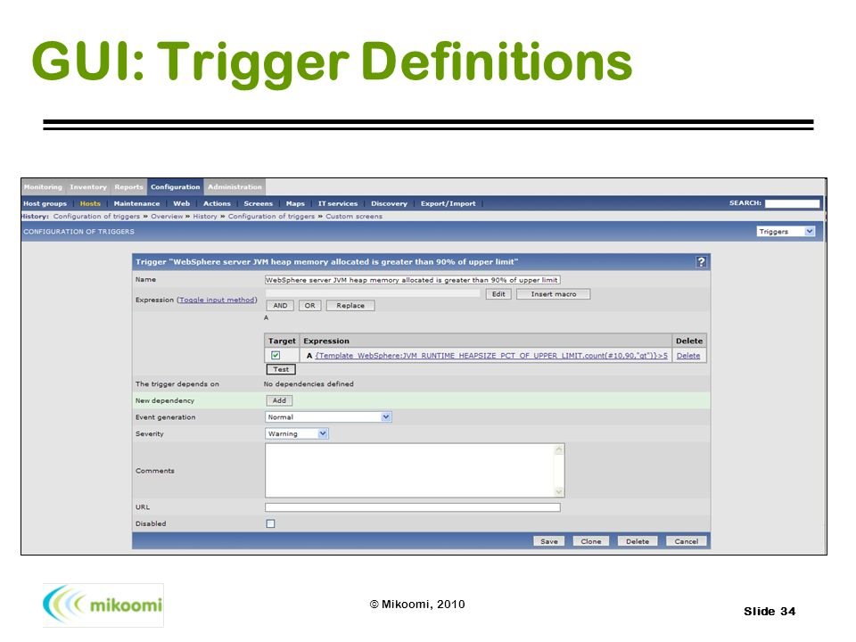 GUI: Trigger Definitions