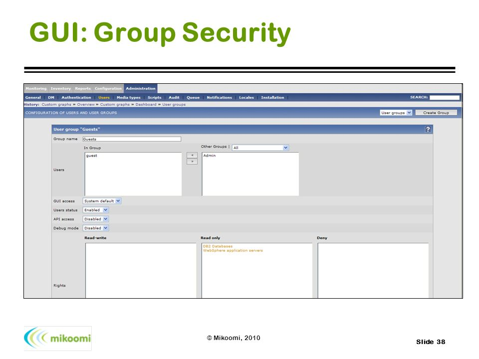 GUI: Group Security