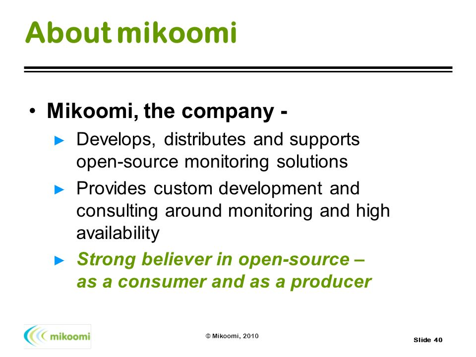About mikoomi Mikoomi, the company -