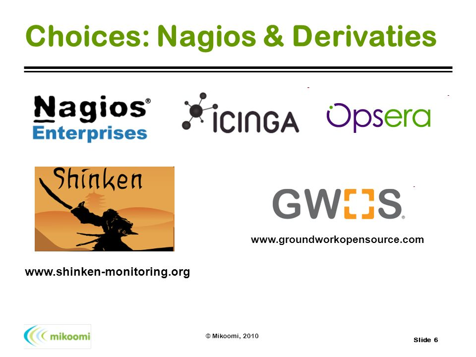 Choices: Nagios & Derivaties