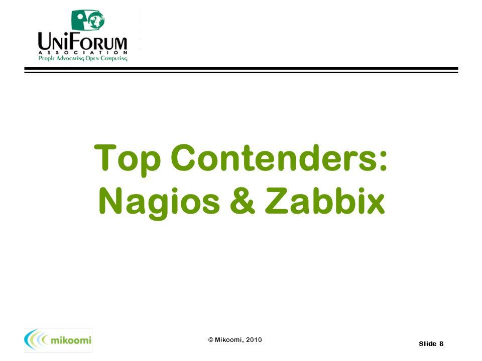 Top Contenders: Nagios & Zabbix