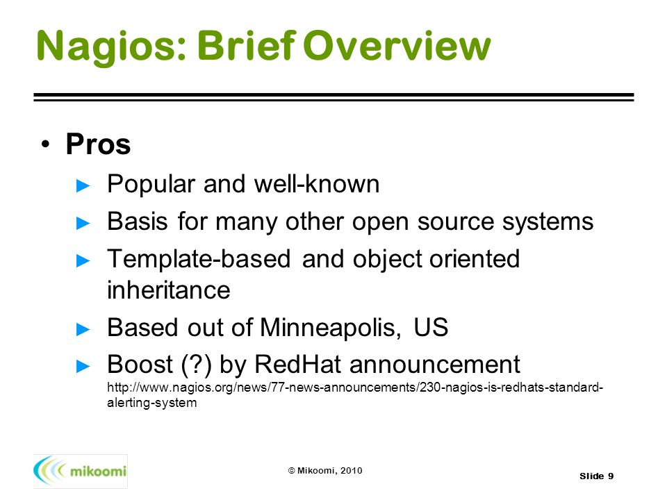Nagios: Brief Overview
