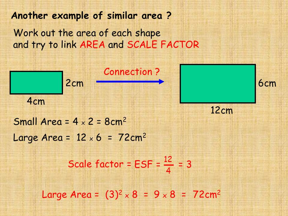how to find the scale factor of two shapes