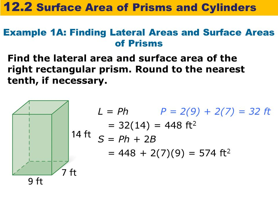 What is the formula for the surface area of a triangular prism?