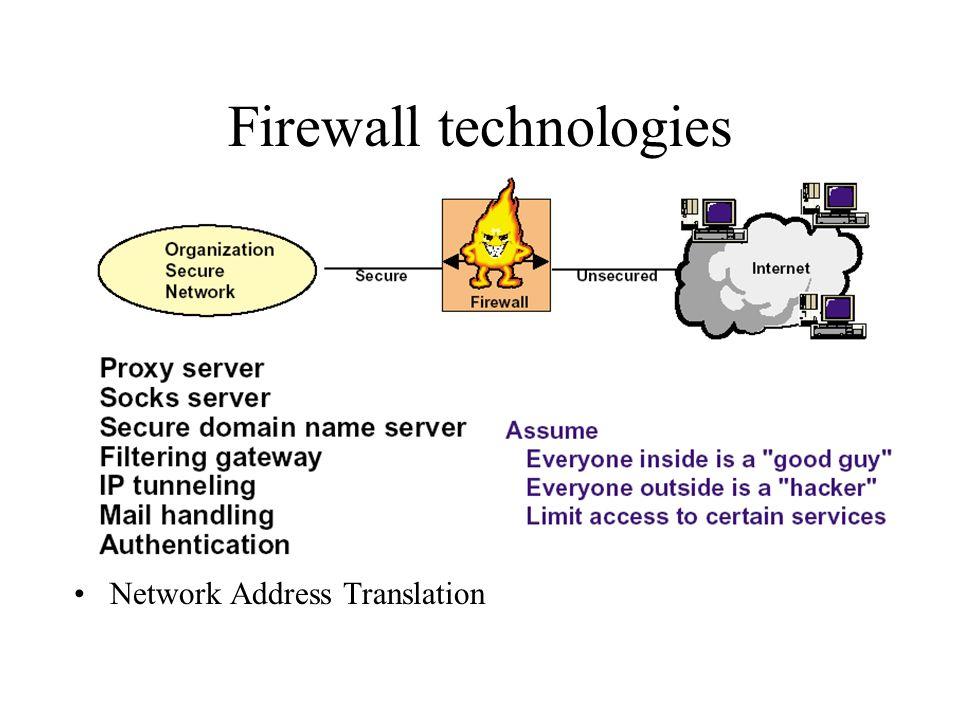Firewall technologies