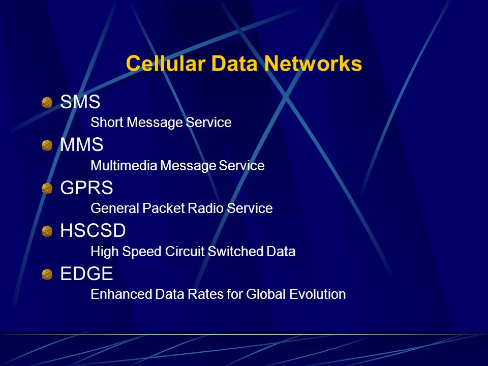 Cellular Data Networks