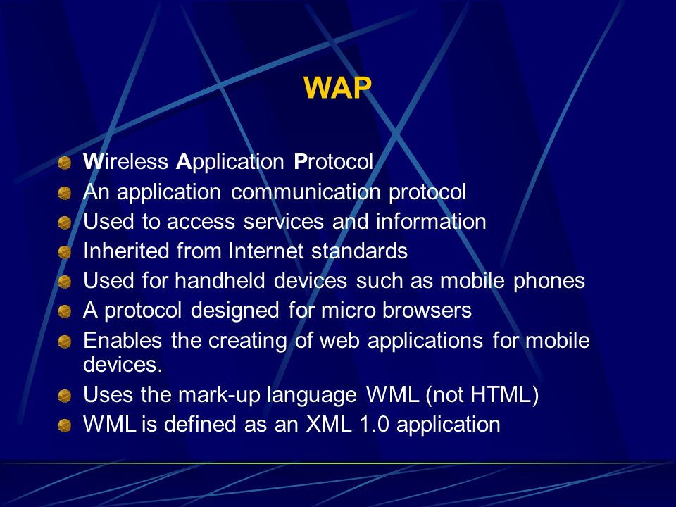 WAP Wireless Application Protocol