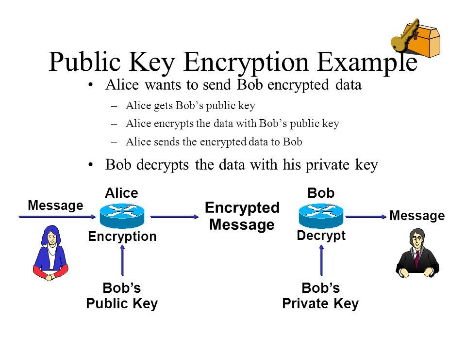 Public Key Encryption Example