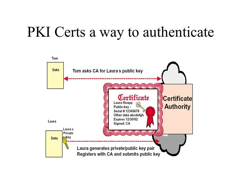 PKI Certs a way to authenticate