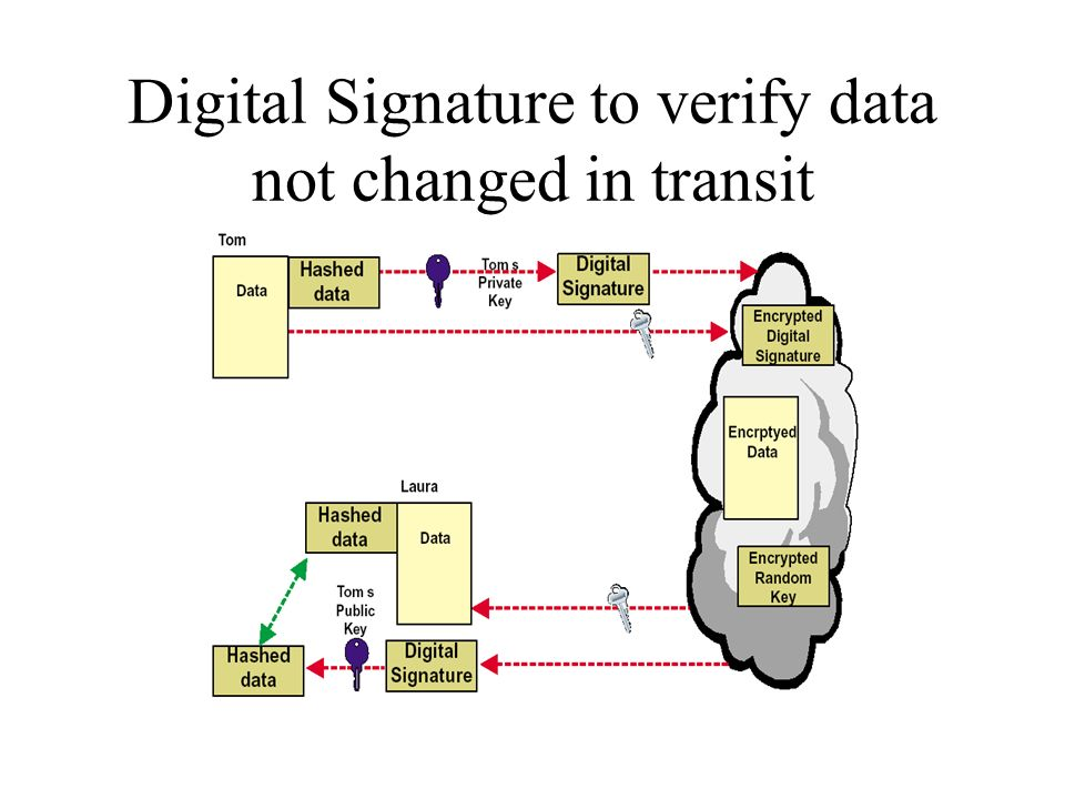 Digital Signature to verify data not changed in transit