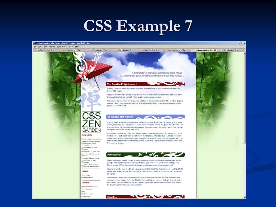 CSS Example 7