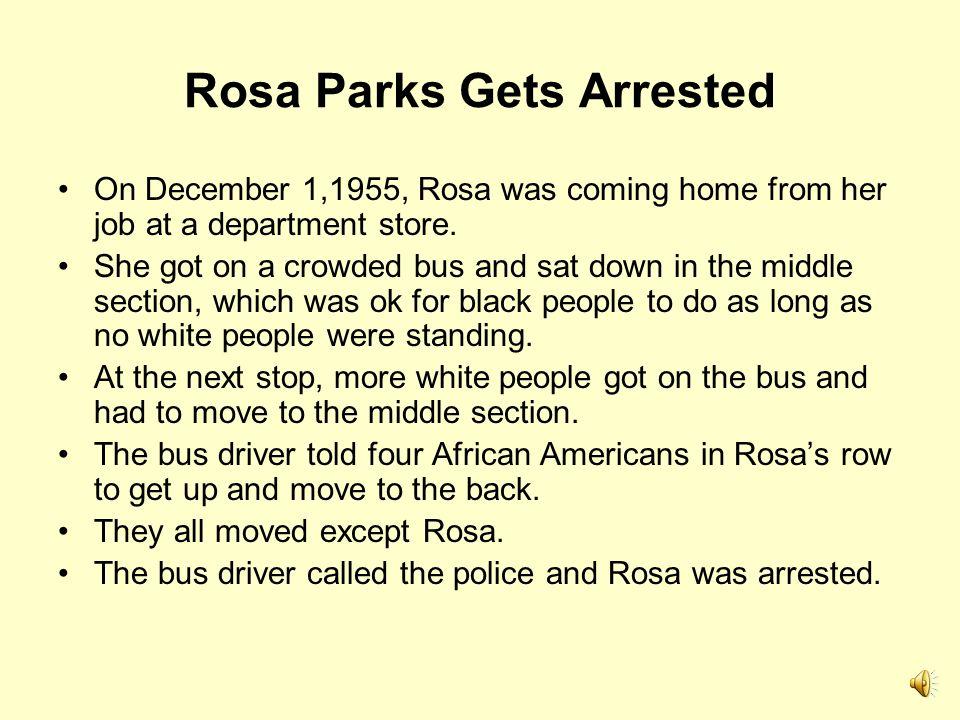 Rosa Parks Gets Arrested