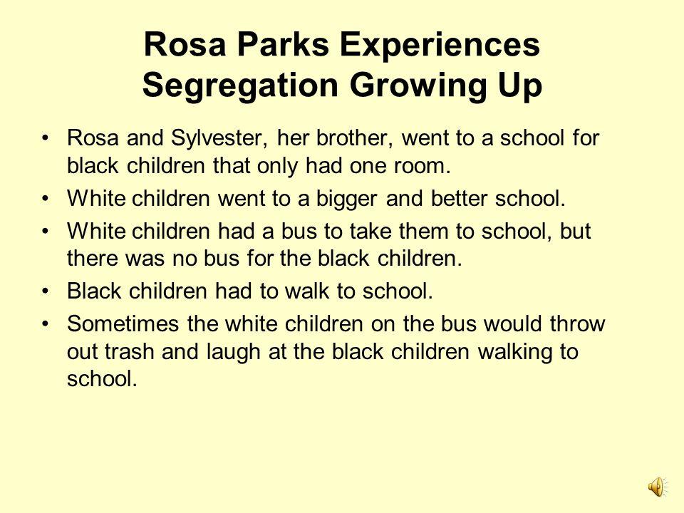 Rosa Parks Experiences Segregation Growing Up