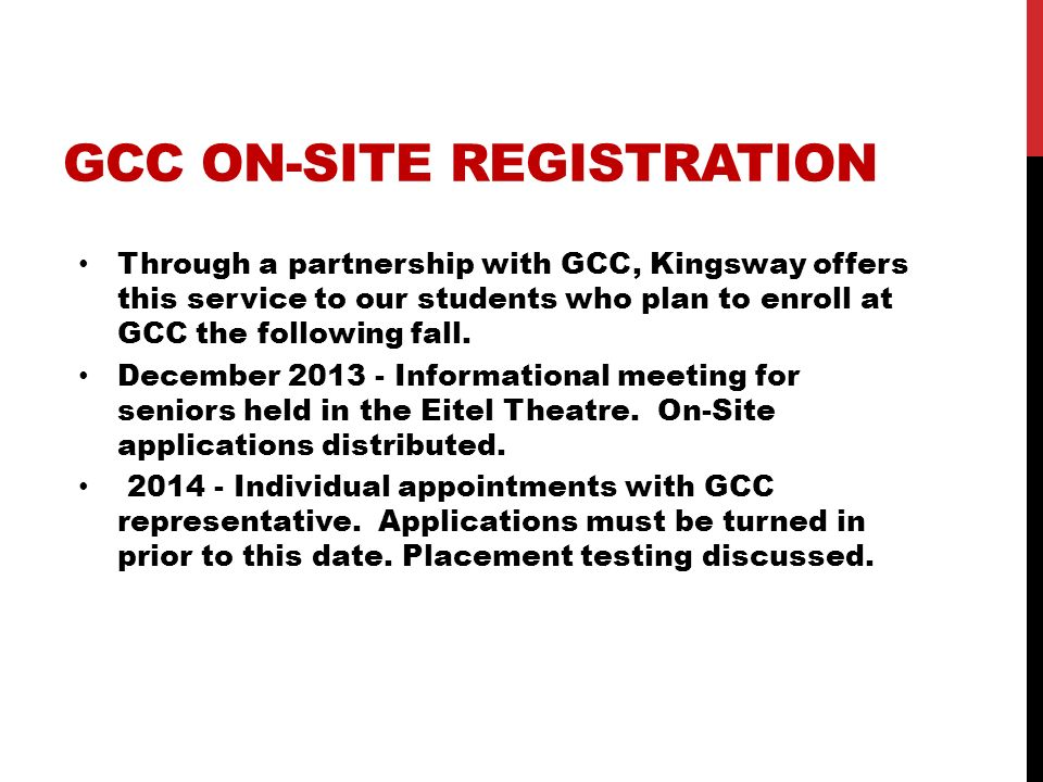 GCC On-Site Registration