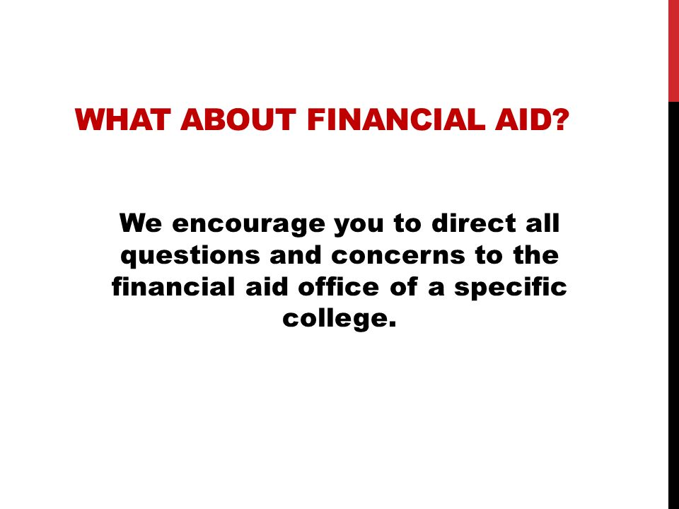 What about financial aid