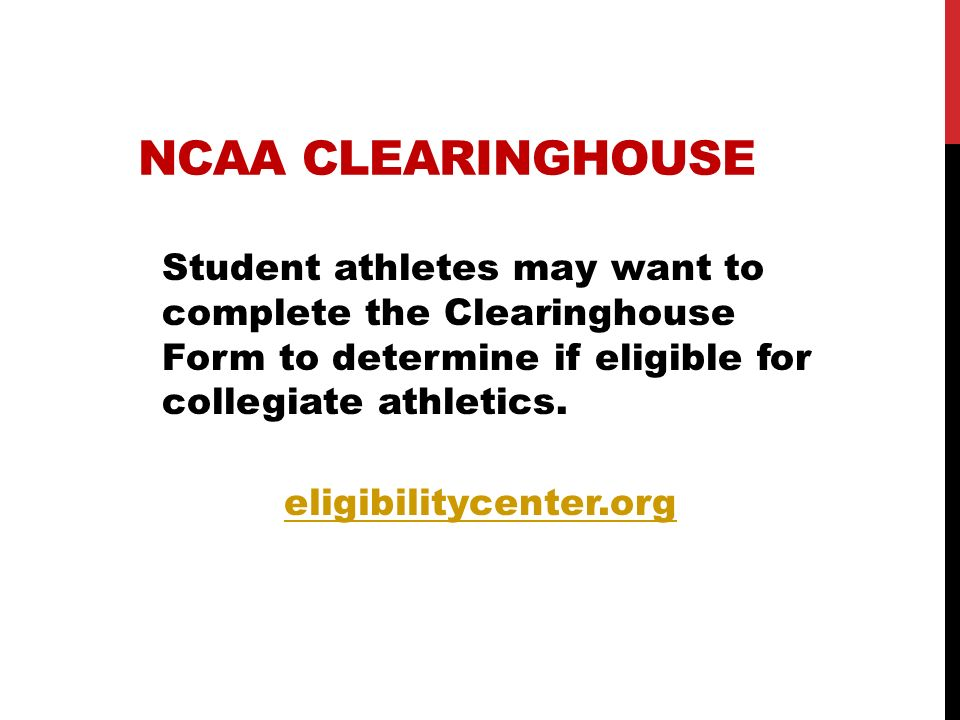 eligibilitycenter.org NCAA CLEARINGHOUSE