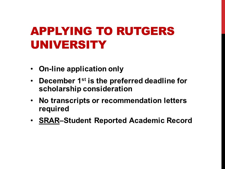 Applying to Rutgers University