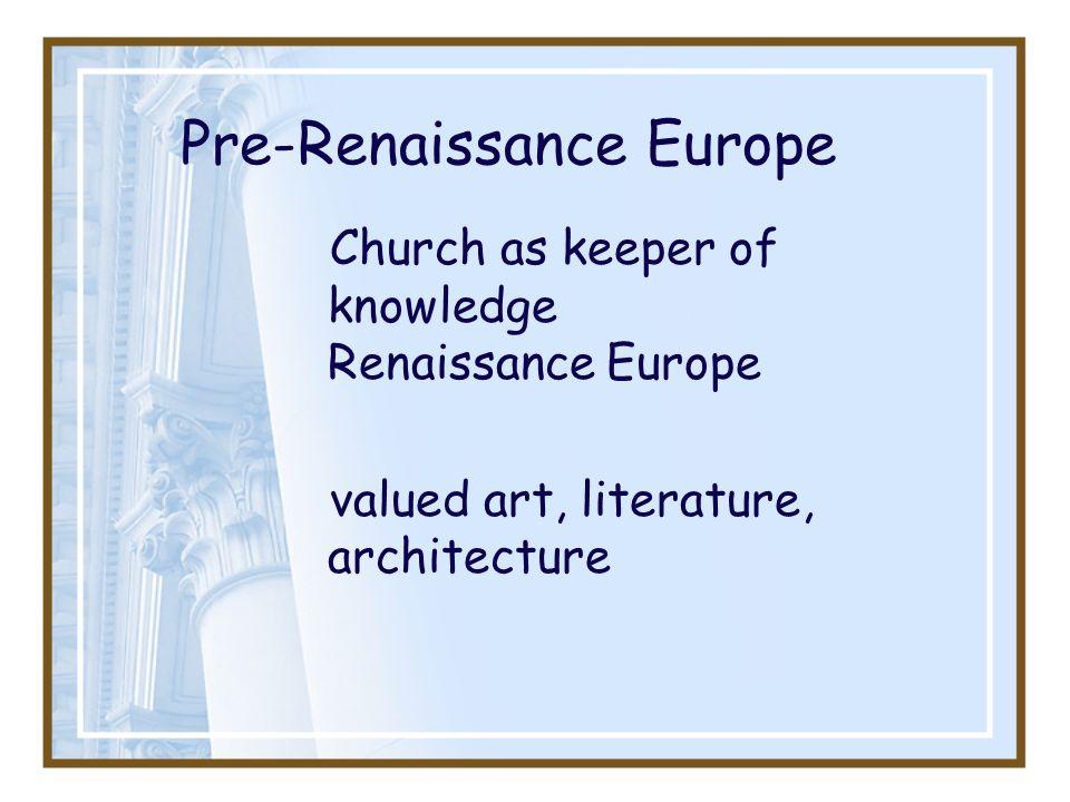 Pre-Renaissance Europe