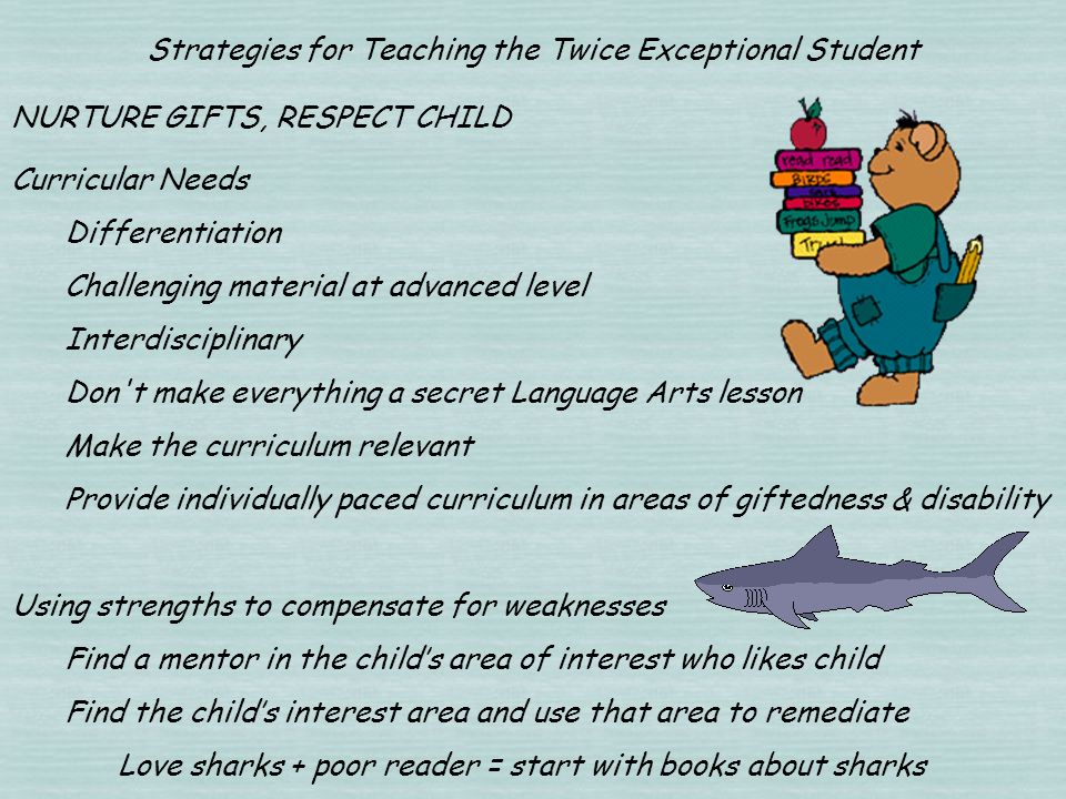 Strategies for Teaching the Twice Exceptional Student