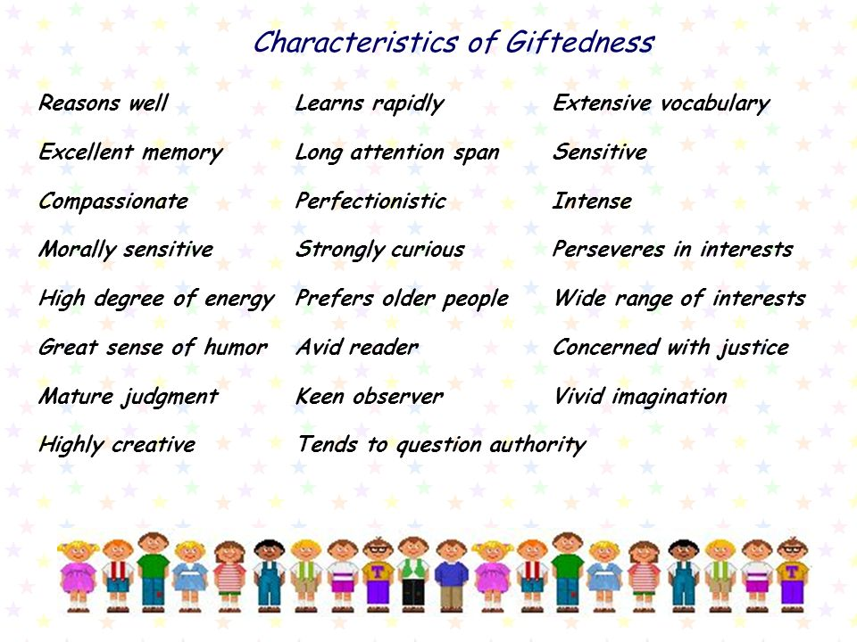 Characteristics of Giftedness