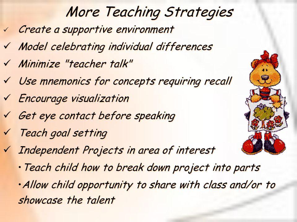 More Teaching Strategies