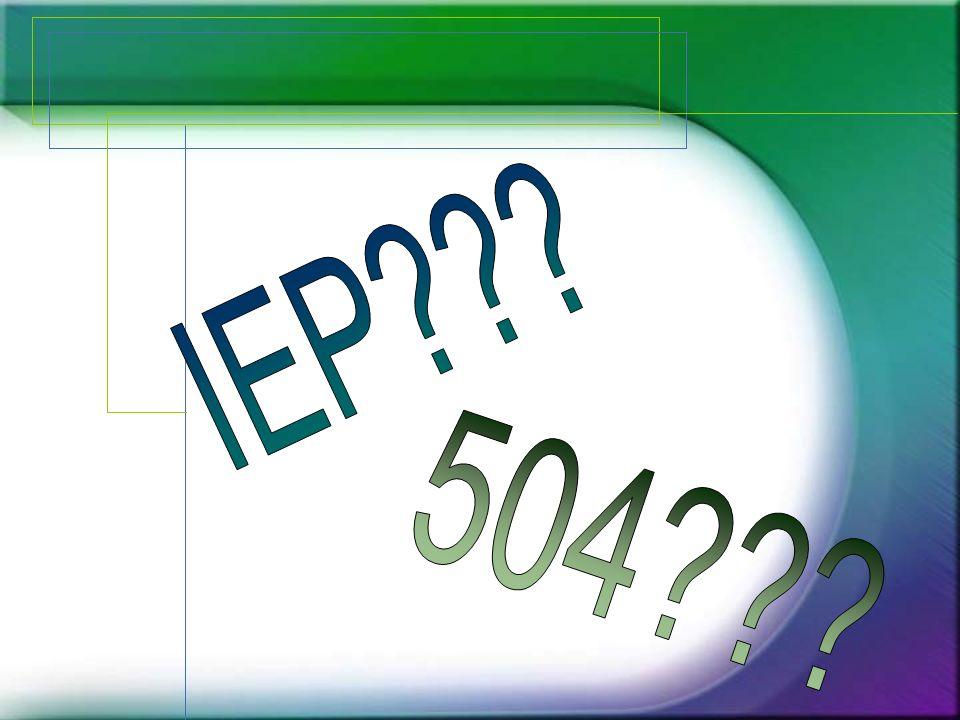 IEP 504